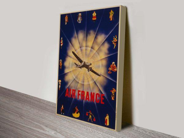 Air France Poster Art Print on Canvas