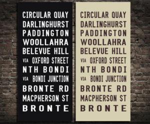 circular quay Bronte tram scroll