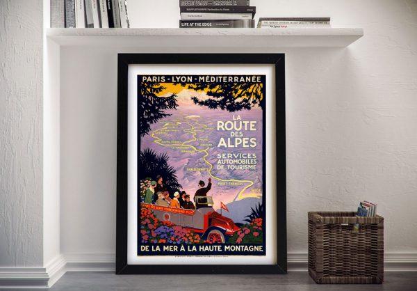 Framed Retro Travel Poster Unique Home Decor Ideas