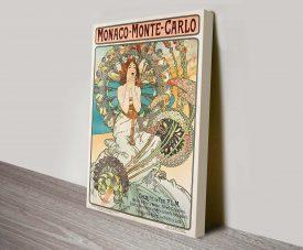 Alphonse Mucha Monaco Canvas Print