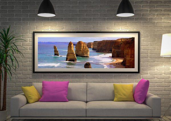 Buy Twelve Apostles Panoramic Framed Print