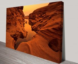 Arizona Rock Pool Canvas Print Australia