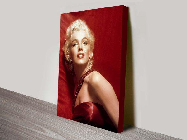 Marilyn Monroe Red Canvas Art Print