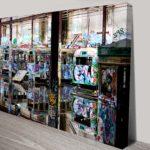 Glebe Tram Depot Graffiti Photos Framed Wall Canvas Print