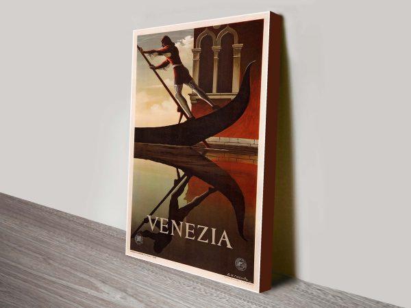 Venezia Vintage Travel Poster Wall Art Online