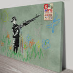 Banksy Child Soldiers Canvas Print