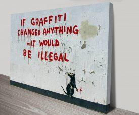 Banksy Graffiti Rat