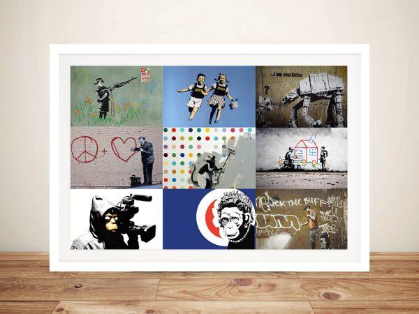 Banksy Montage 4 Framed Wall Art