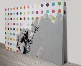 Banksy Roller Rat Canvas Print Australia