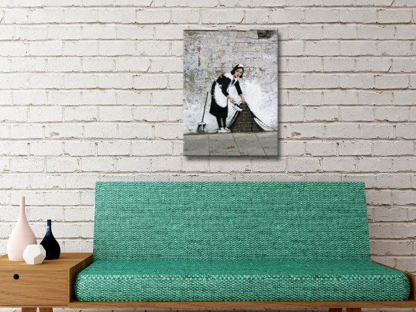 Buy a Canvas Wall Art Print of Banksy's Maid AU