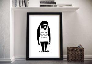 Banksy Monkey Framed Wall Art Print