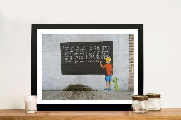 Buy Banksy Simpsons Framed Canvas Wall Art