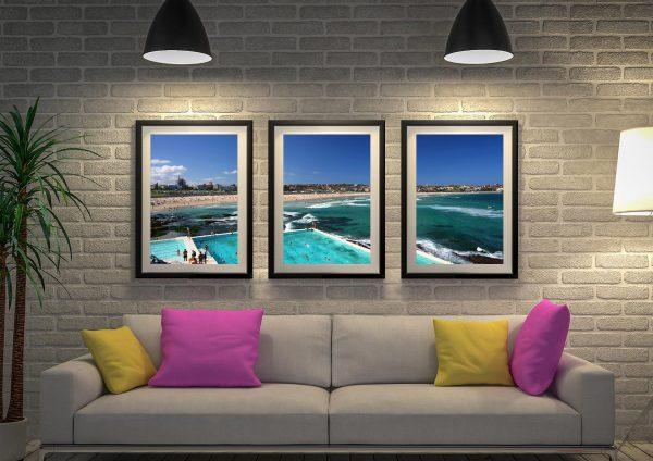 Buy a Bondi Icebergs Affordable Triptych Art AU