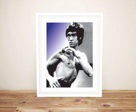 Purple Background Bruce Lee Pop Art Print