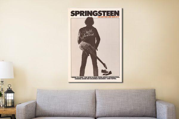 Bruce Springsteen Poster Canvas Artwork