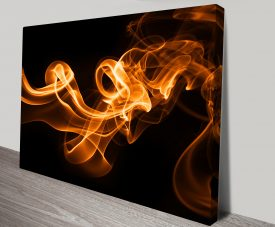 Burning Night Abstract Canvas Wall Art