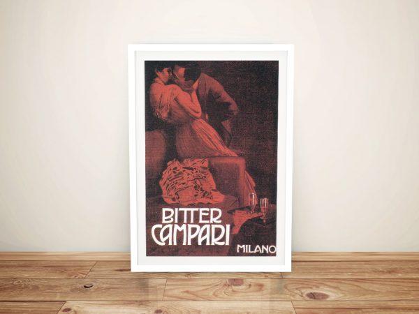 Buy a Vintage Campari Drinks Framed Poster Print