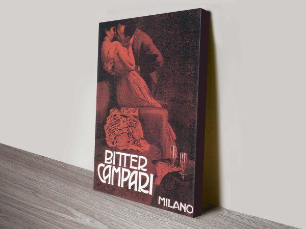 Campari Vinatge Poster Canvas Print