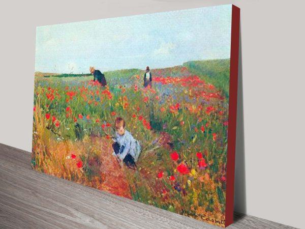 Poppy in the field, Cassatt Print