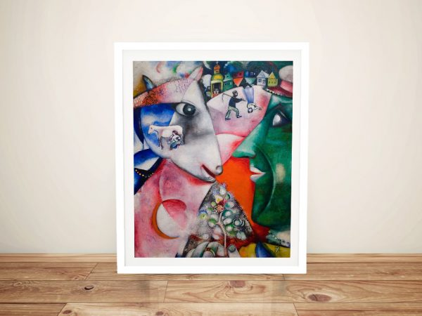 Buy Marc Chagall I and the Village Wall Art Print
