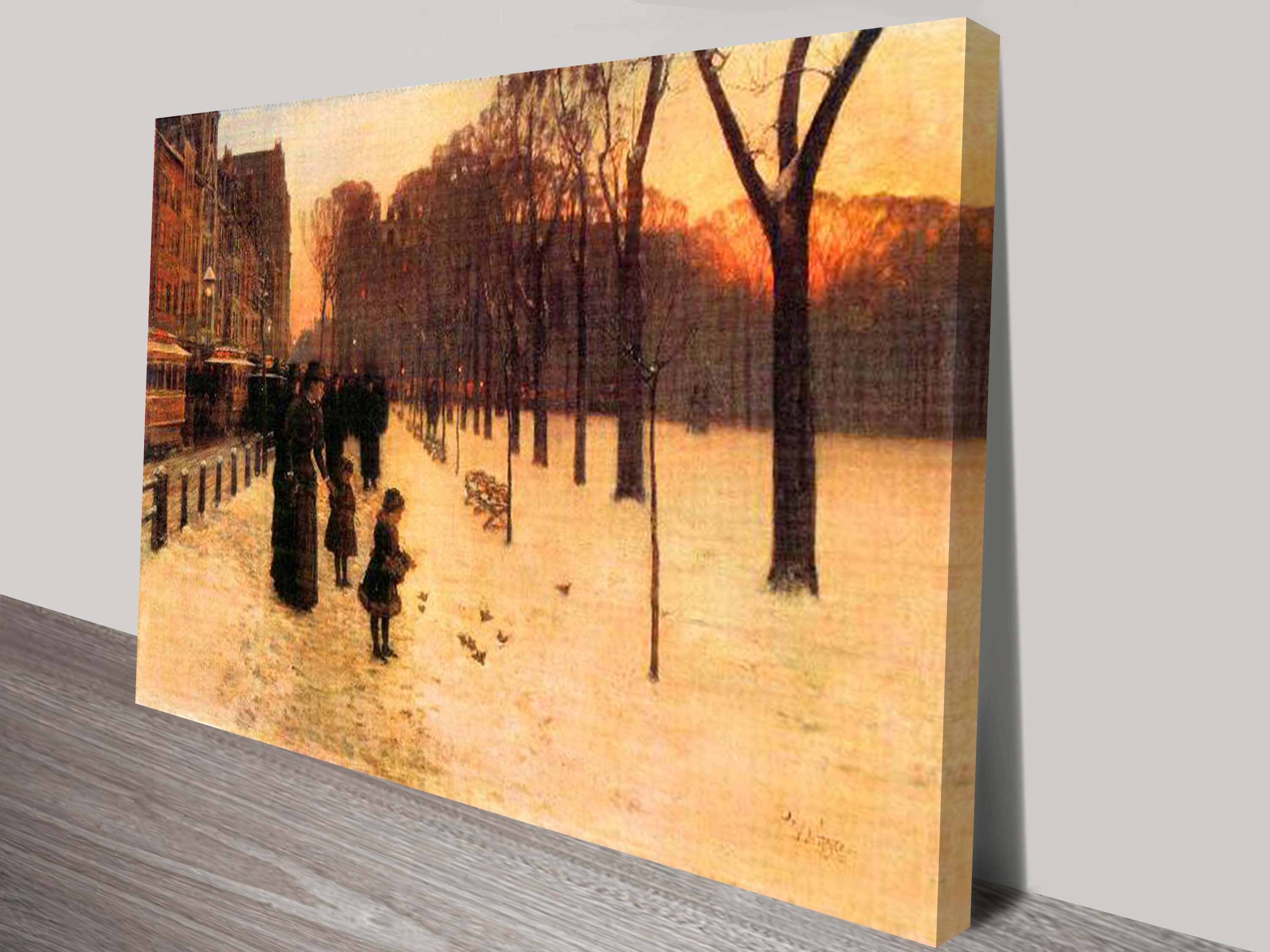 Boston in everyday Twilight by Frederick Childe Hassan Canvas Print ...