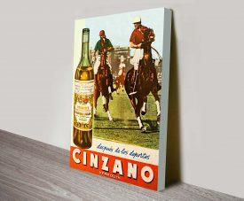 Cinzano Polo Vintage Poster Canvas Print