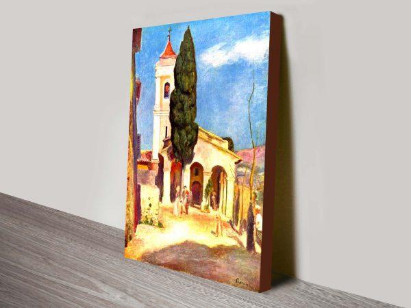 A Church at Cagnes Renoir Wall Art