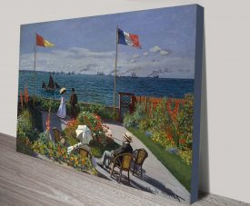 Canvas Wall Art Print of Garden at Sainte Adresse