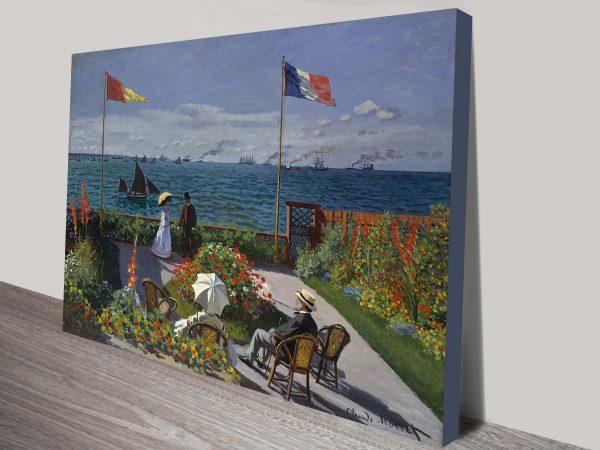 Canvas Wall Art Print of Garden at Sainte Adresse