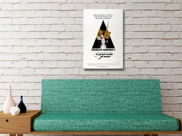 Clockwork Orange Movie Poster Canvas Print
