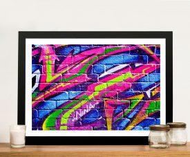 Buy Colour slashes Framed Wall Art