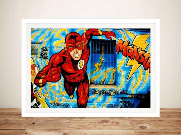 Comic book graffiti Framed Wall Art