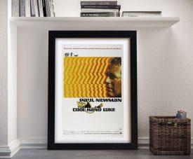 Cool Hand Luke Vintage Movie Poster Framed Wall Art