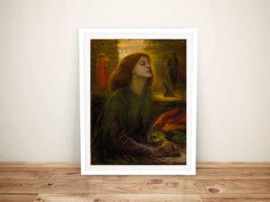 Beata Beatrix Dante Gabriel Rossetti Wall Art Print Australia
