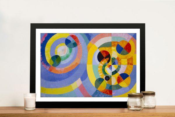 Delaunay Circular Forms Framed Wall Art