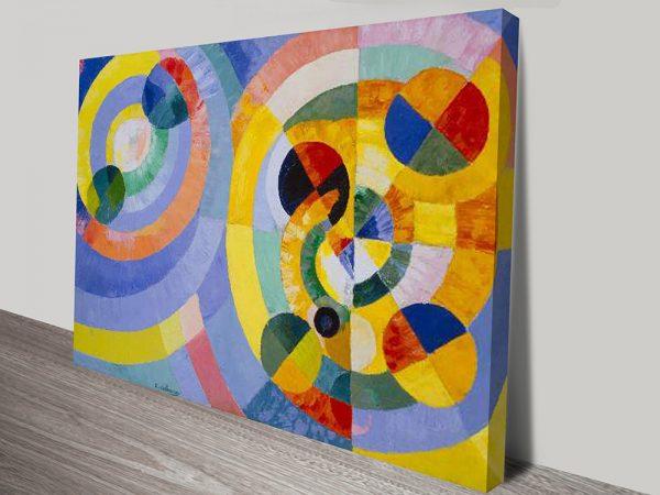 Delaunay-Circular Forms modern art print