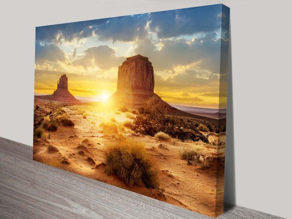 Desert Sunset Wall Canvas Art Print