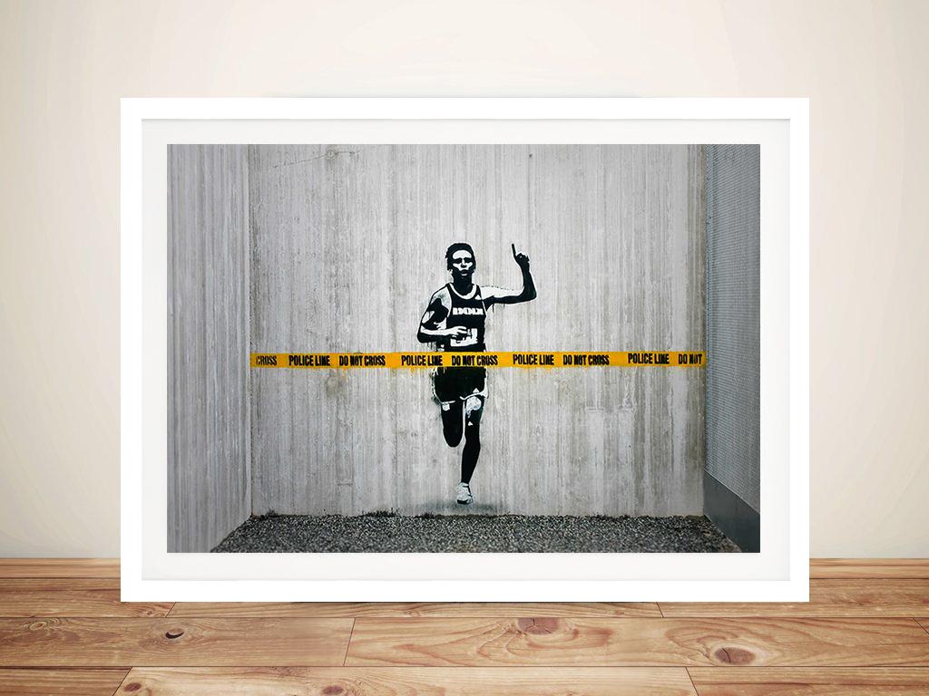 Line Drawing Wall Art : Banksy police line canvas wall art print buy street