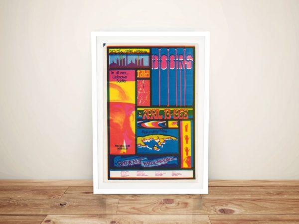 Buy a Concert Poster Print for The Doors at Santa Rosa