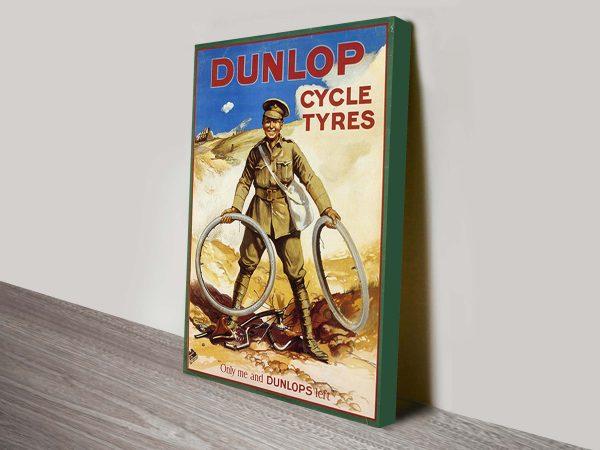Dunlop Cycles 1914 Vintage-Advertising Poster Art Print