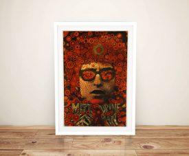 Bob Dylan Vintage Concert Poster Framed Wall Art