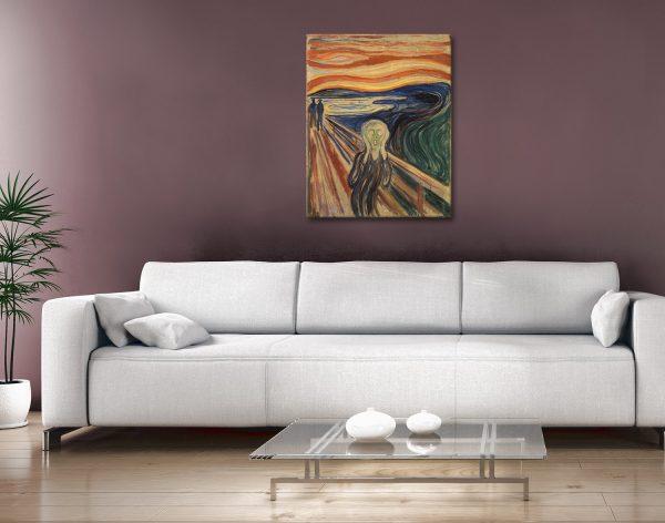 The Scream Edvard Munch Photo canvas Painting