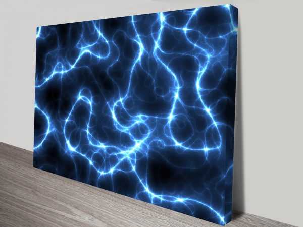 Electric Blue Abstract Wall Art Print