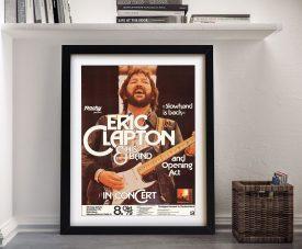 Eric Clapton Concert Poster Art