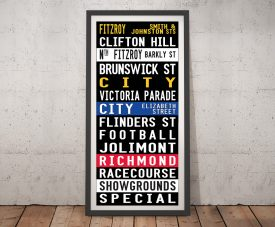 Fitzroy Tram Scroll Framed Wall Art