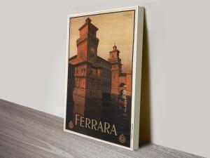 Ferrara Giclee Mario Vintage Poster Canvas Print