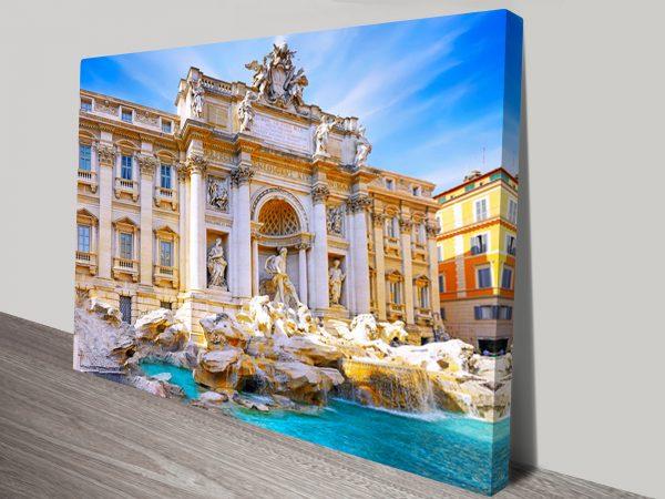 Fountain di Trevi Rome Canvas Art Print
