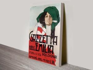 Gazetta del Emilia Vintage Poster Wall Art Print