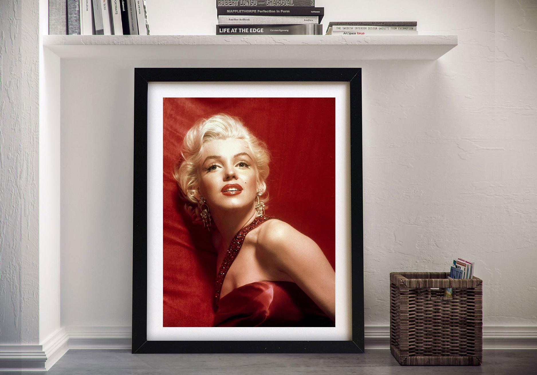 Marilyn Monroe Red Art Canvas Picture Print Australia