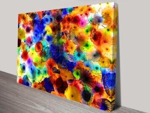 Glass Flowers Canvas Print Australia